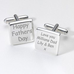 Happy Father's Day Cufflinks - Personalised