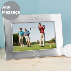 Personalised Silver Golf 6x4 Photo Frame - Landscape
