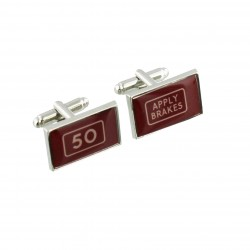 Apply Brakes - 50th Birthday - Cufflinks