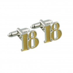 Number 18 - 18th Birthday Cufflinks
