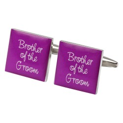 Square Hot Pink - Brother of The Groom Cufflinks