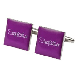 Square Hot Pink - Stepfather Cufflinks