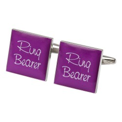 Square Hot Pink - Ring Bearer Cufflinks