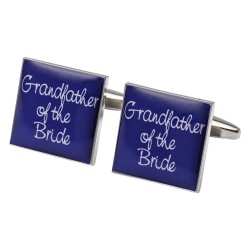 Square Purple- Grandfather of the Bride Cufflinks