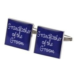 Square Purple- Grandfather of the Groom Cufflinks