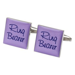 Square Lilac - Ring Bearer Cufflinks