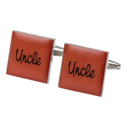 Square Orange - Uncle Cufflinks