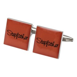 Square Orange - Stepfather Cufflinks