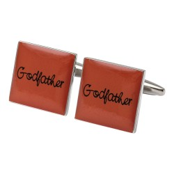 Square Orange - Godfather Cufflinks