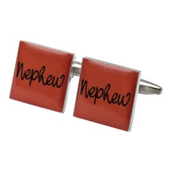 Square Orange - Nephew Cufflinks