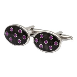 Navy and Pink Spot Cufflinks