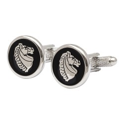 Horse Head Medallion Cufflinks - Animal Cufflinks
