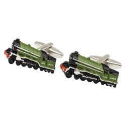 Flying Scotsman Steam Train Cufflinks