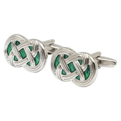 Donegal Green Celtic Cufflinks