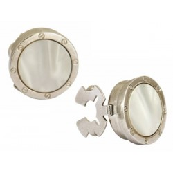 Mother of Pearl Port Hole Button Cover