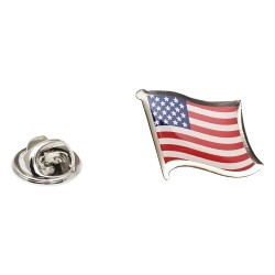 Flag of United States Lapel Pin - Wavy Flag