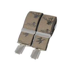 Natural Stag and Country Themed 35mm Silver Clip Braces