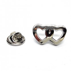 Entwined Hearts Lapel Pin