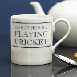I'd Rather be Playing Cricket Mug