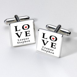 Personalised LOVE Cufflinks