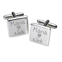 Personalised Loving Couples Cufflinks