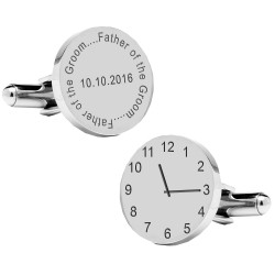 Personalised Father of the Groom..special time cufflinks