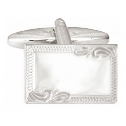 Esquire - Sterling Silver Engraved Edge Cufflinks