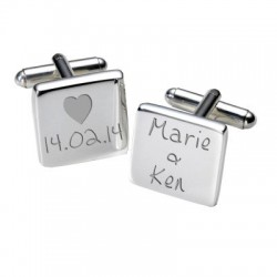 Dates and Names Cufflinks - Personalised Cufflinks