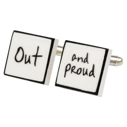 Out and Proud Bone China Cufflinks