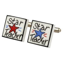 Star Teacher Bone China Cufflinks