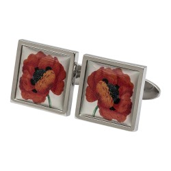 Remembrance Poppy Cufflinks