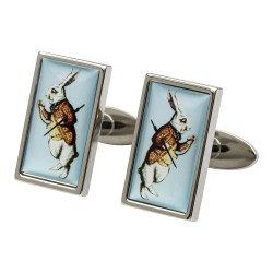 Alice in Wonderland White Rabbit Cufflinks
