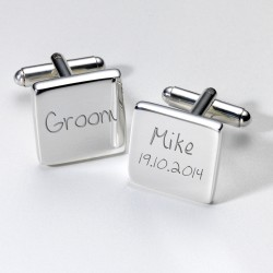 Personalised Groom Cufflinks