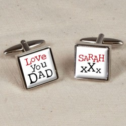 Personalised Love You Dad Cufflinks