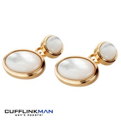 Mother of Pearl in Gold Cufflinks