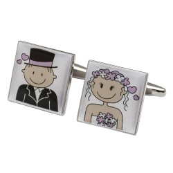 Smile Pink Design - Bride and Groom - love is in the air! Cufflink