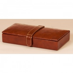 Brown Cufflink Case Raffles Collection