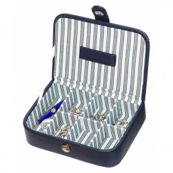Blue Stripe Collection Cufflinks Box