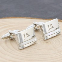 Initial Cufflinks Mother of Pearl - Engraved Cufflinks