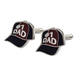 No1 Dad Baseball Cap Cufflinks