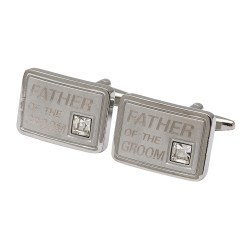 Father of the Groom Crystal Cufflinks
