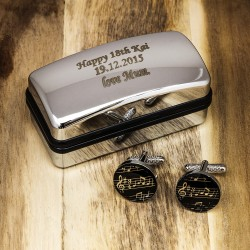 Music Personalised Cufflinks Gift Set