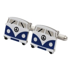 Blue VW Campervan Cufflinks