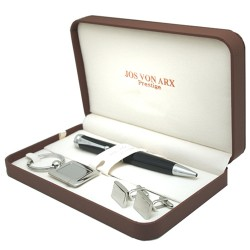 Corley Cufflinks Pen & Key Ring Boxed Gift Set