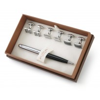 Magna Cufflinks Boxed Gift Set - 3 Pairs of Cufflinks  & Executive Pen