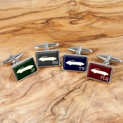 Classic Car Cufflinks - Personalise with Your Initials