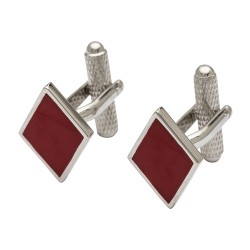 Diamonds Playing Card Suits Cufflinks