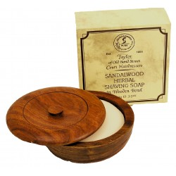 Sandalwood Shaving Soap in Wooden Bowl 100G - Taylor of Bond Street