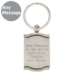 Any Message Photo Frame Keyring - Personalised
